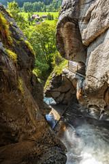 Switzerland - The Beautiful Trummelbach Falls - Glacial Water