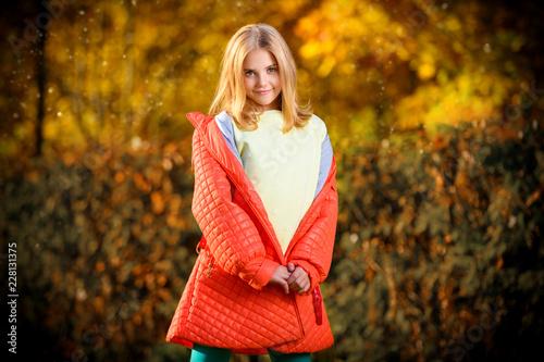 Leinwandbild Motiv yellow golden autumn