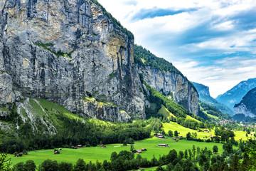 Switzerland the Beautiful Lauterbrunnen Valley