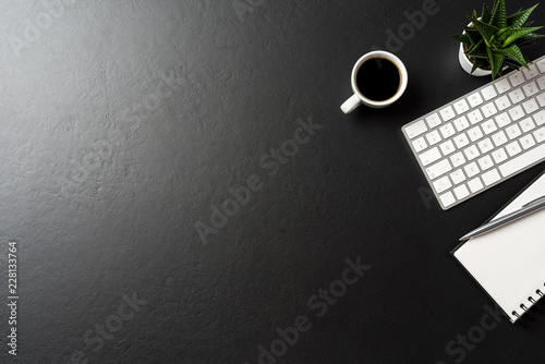 Fridge magnet Modern office desktop with copy space