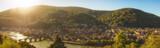 Panorama of Heidelberg in morning sunlight