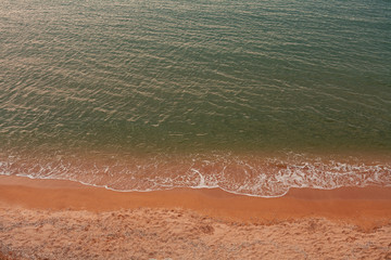 Minimalistic sea landscape from above © mettus