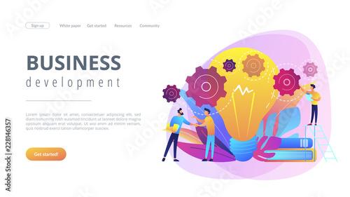 Fridge magnet Business idea concept landing page.