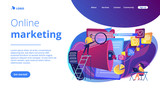 Search engines optimization concept landing page. - 228146909