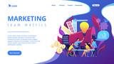 Digital marketing team concept landing page.