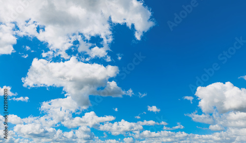 Foto Murales Blue sky background with cumulus clouds