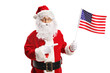 Quadro Santa Claus with an American flag pointing