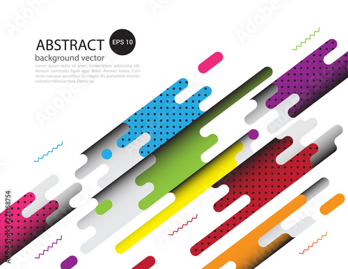 Covers with flat geometric pattern Background.Vector illustration. - 228158754