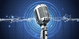 Retro style microphone on bokeh background - 228162166