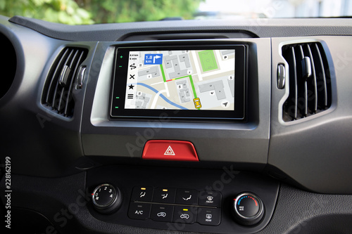 touch multimedia system with application navigation on the screen