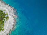 La mer adriatique près de Šibenik