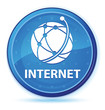 Internet (global network icon) midnight blue prime round button