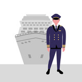 captain cruise boat maritime work