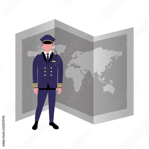 pilot airplane world map occupation labor