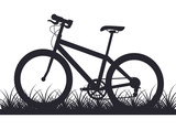 bicycle in the outdoor grass