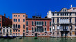 Venetian houses by Grand Canal in Venice, Italy