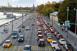 Evening traffic jam near the Moscow Kremlin - 228208146