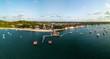 Quadro Aerial view of the port of Gamboa do Morro, Bahia, Brazil
