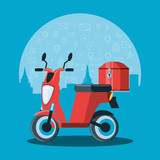 motorcycle transportation of logistic service