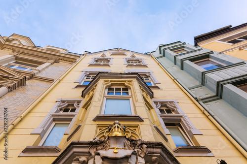 historyczne domy w Aachen, Niemcy