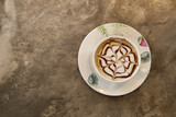 Cup of cappuccino on table