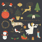 Christmas Icons and Symbols in Vector