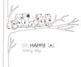 Cute baby catl cartoon hand drawn style