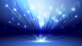 Abstract blue light and shade creative background. Vector illustration. - 228266987