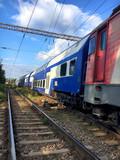 Railway wagon and train running