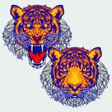 Tiger head element