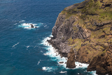 Cliffs in the north of Sao Miguel, Azores Islands