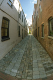 Small street with facades of typical buildings in Georgetown in Washington DC - 228304744