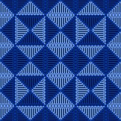 Seamless halftone lines triangle abstract geometric pattern background. Vector illustration for wallpaper, fashion, textile print, and wrapping. © ngupakarti