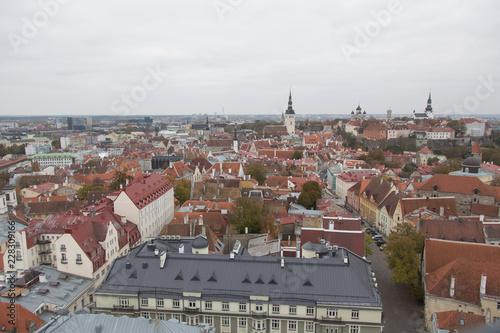 Fridge magnet roofs of Tallinn old town