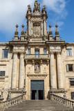 Fachada del Monasterio e Iglesia de San Martiño Pinario, Santiago de Compostela, Galicia. - 228311113