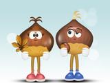 illustration of funny chestnuts - 228314194