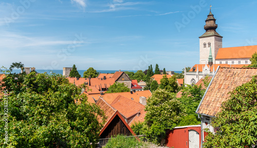 Fridge magnet view of town of gotland