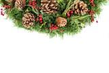 Christmas coniferous wreath