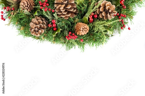 Christmas coniferous wreath