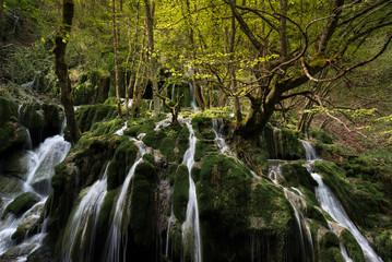 Toberia Waterfalls at Entzia mountain range, Alava, Spain