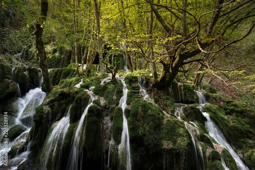 Toberia Waterfalls at Entzia mountain range, Alava, Spain - 228326934