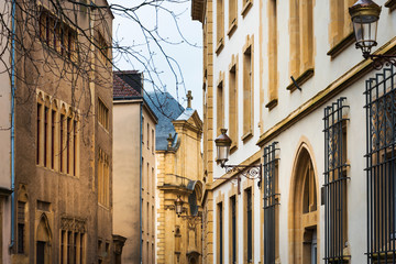 Antique building view in Old Town Metz, France © ilolab