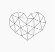 Low poly heart shape