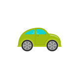 Car baby toy in flat design. Vector cartoon illustration.