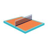 tennis sport court icon - 228371942