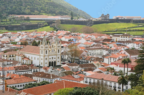 cityscape of Terceira from hill, Azores, Portugal - 228373551