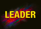 Leader colorful paint abstract background - 228374726