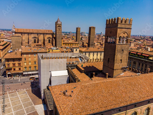 Aerail widok Bologna Włochy