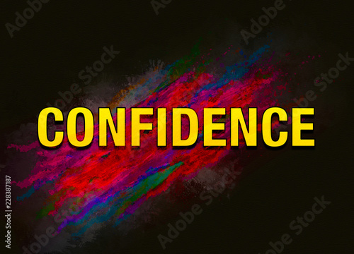 Confidence colorful paint abstract background