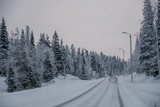 Winter road in Finland - 228389704
